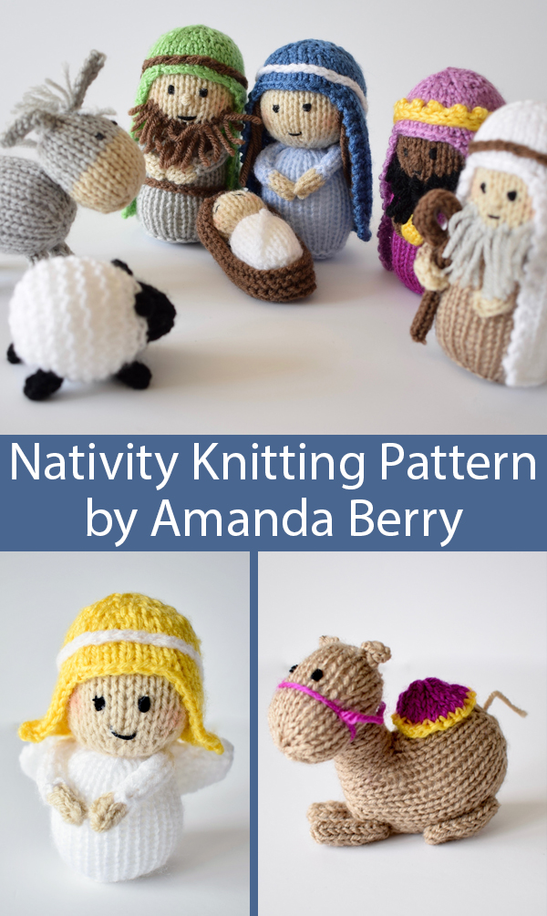 Knitting Pattern for Christmas Nativity Set