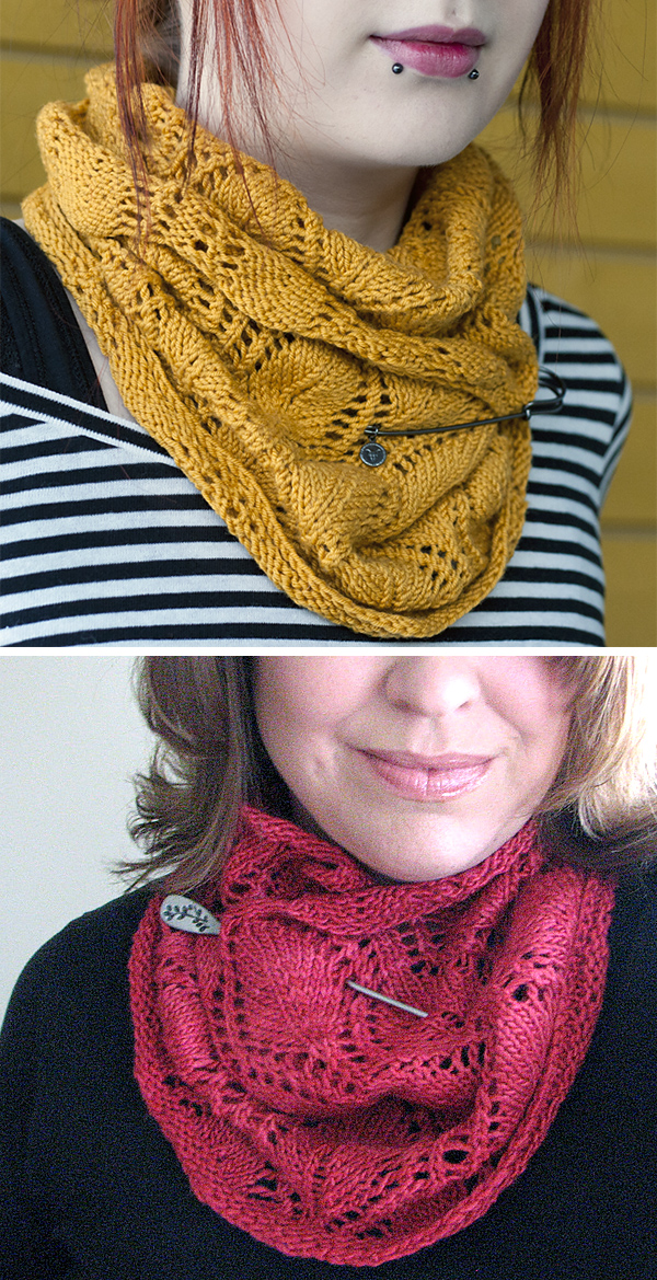 Free Knitting Pattern for A Noble Cowl