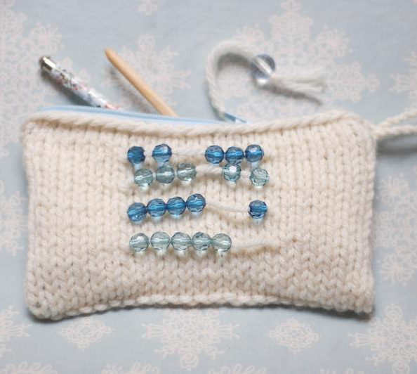 Free Knitting Pattern for Abacus Pouch