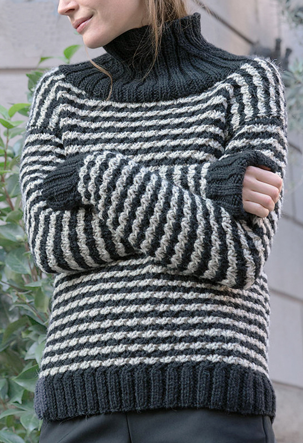 Free Knitting Pattern for 4 Row Repeat Abbraccio Sweater