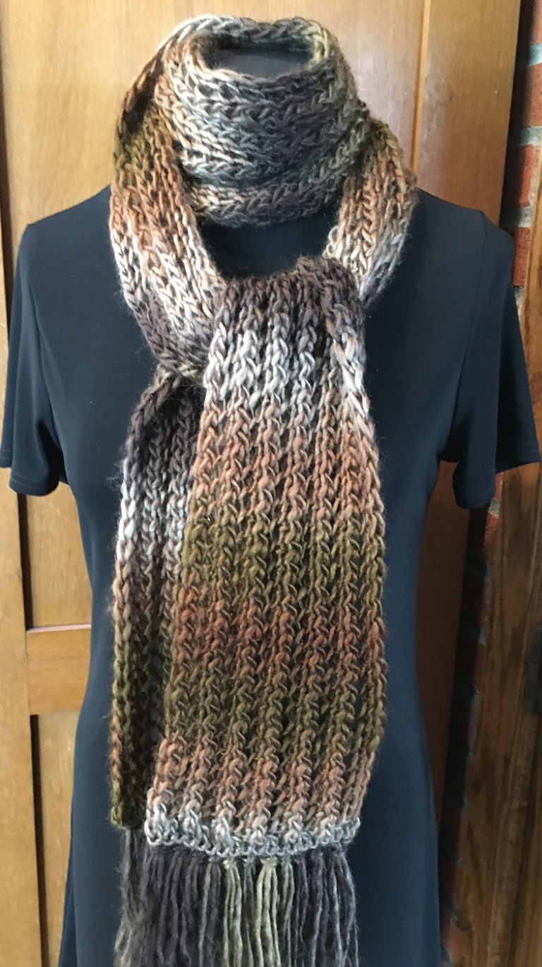 Free Knitting Pattern for One Row Repeat Acceptance Scarf