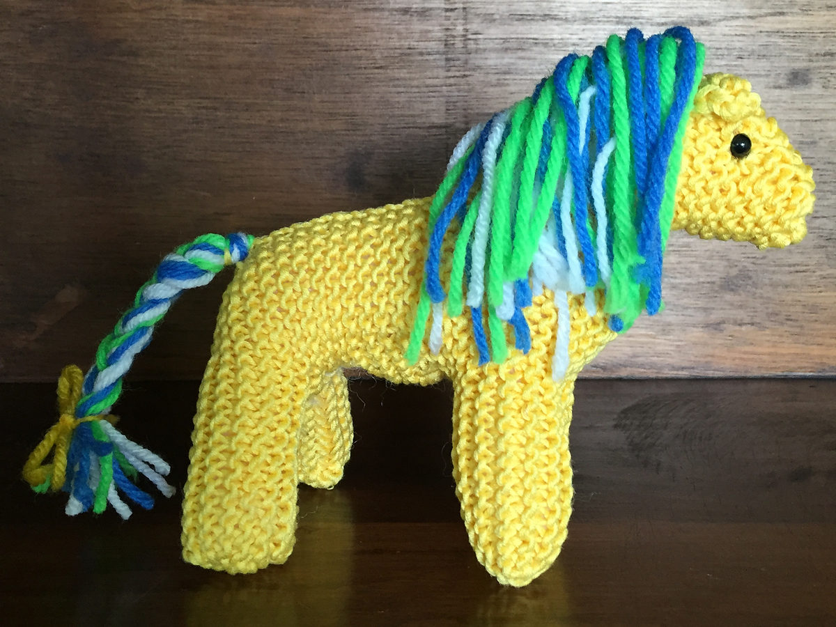 Free Knitting Pattern for Easy Acorn Hill Pony