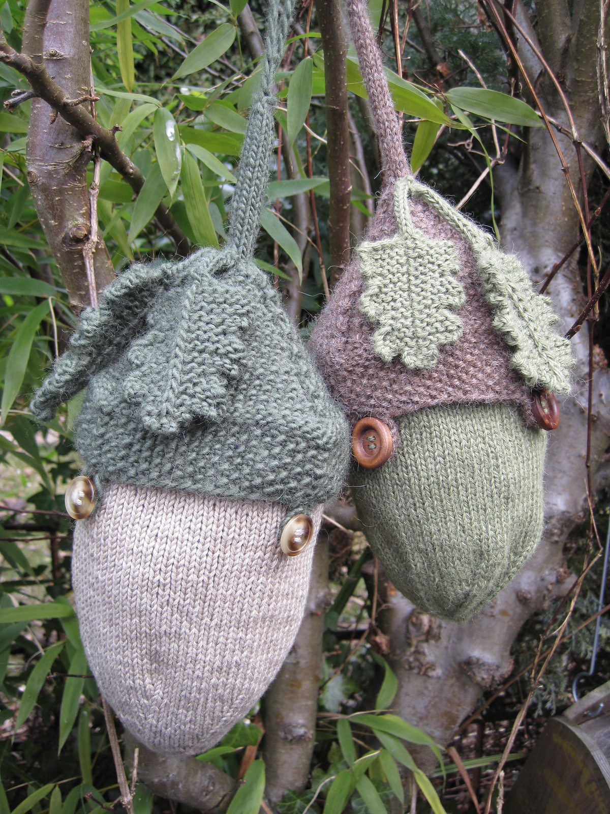 Free Knitting Pattern for Acorn Project Bag