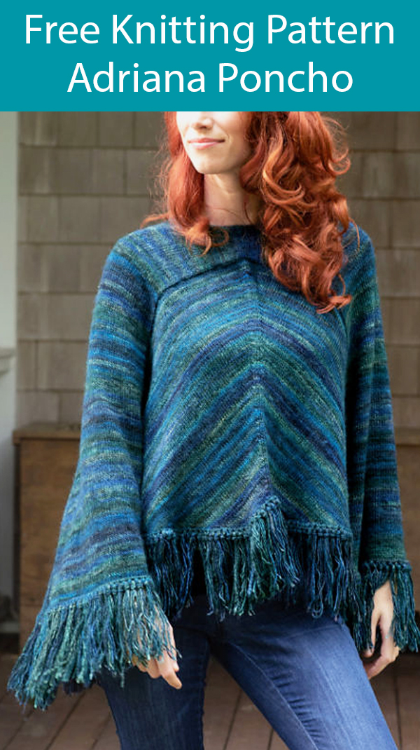Free Knitting Pattern for Adriana Poncho