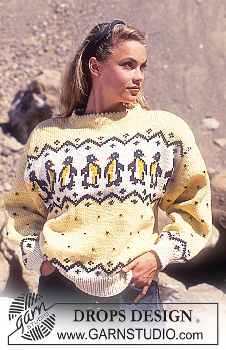 Free knitting pattern for penguin sweater for adults