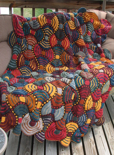 Free Knitting Pattern for African Adventure Afghan