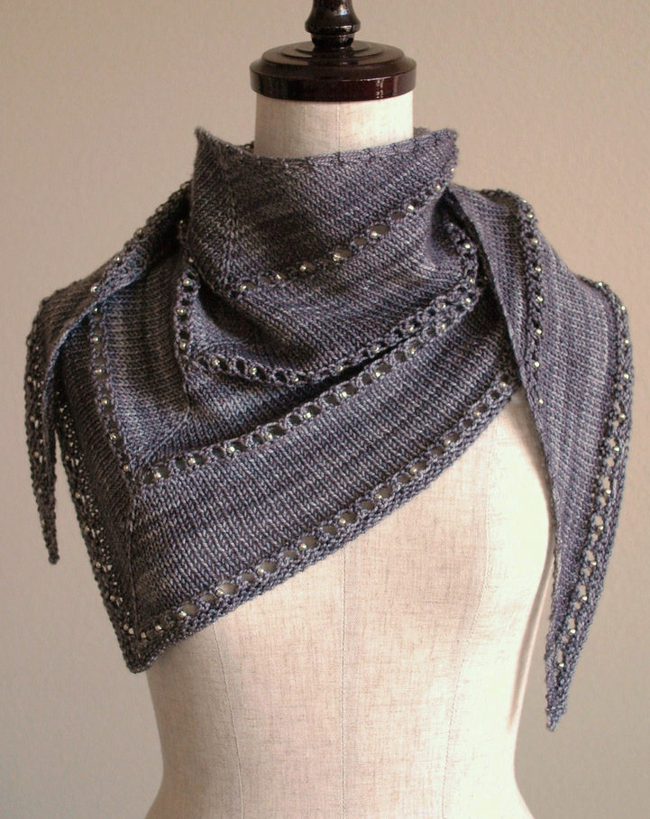 Free Knitting Pattern for One Skein Age of Brass and Steam Wrap