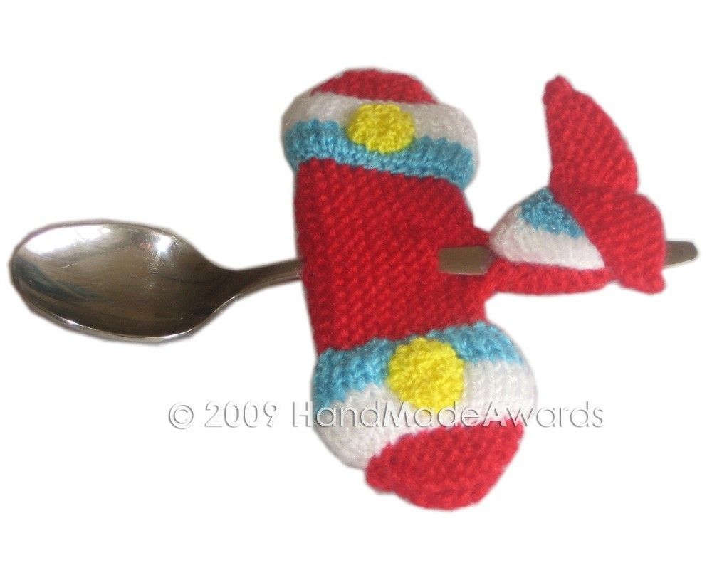 Knitting Pattern for Airplane Spoon for Baby