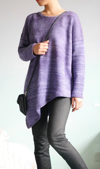 Knitting pattern for Al Mare Oversized Pullover Sweater