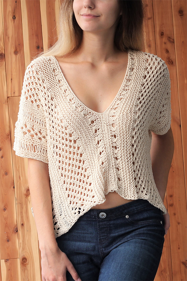 Knitting pattern for Easy Alaya Top
