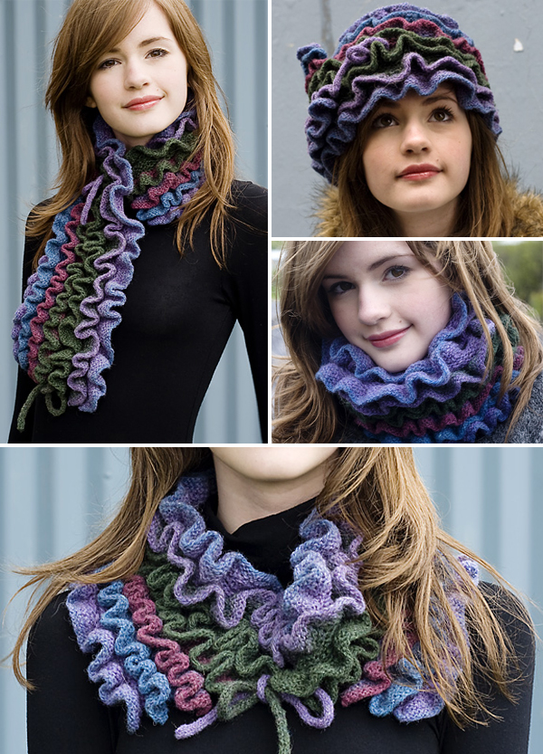 Free Knitting Pattern for Alda Multi-Wear Scarf