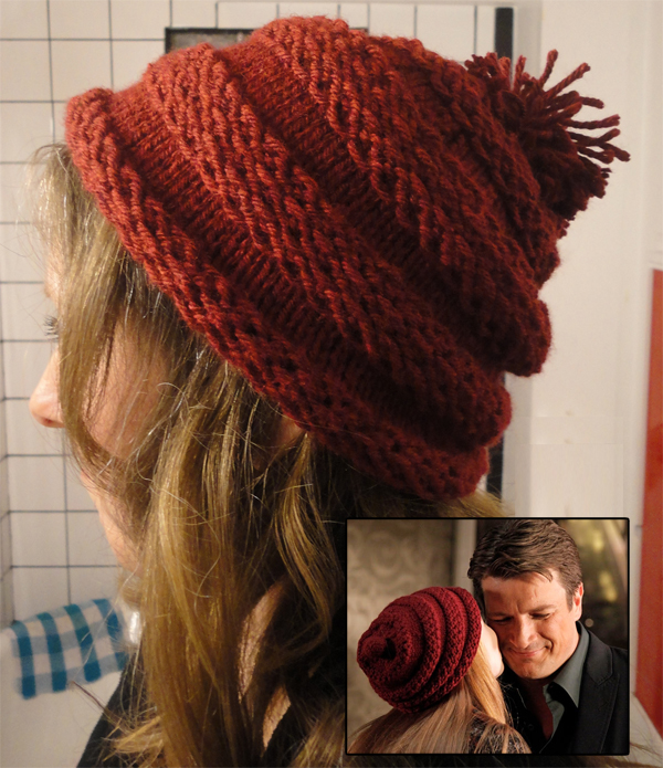 Knitting Pattern for Alexis' Hat from Castle