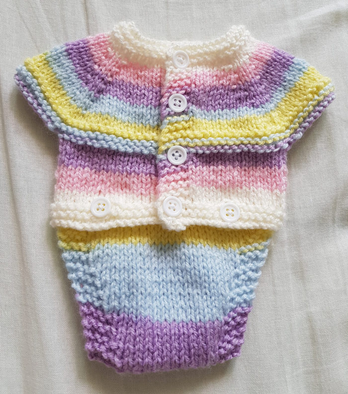 Free Knitting Pattern for All-in-One Onesie
