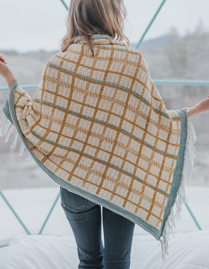 Knitting Pattern for Allegany Plaid Shawl