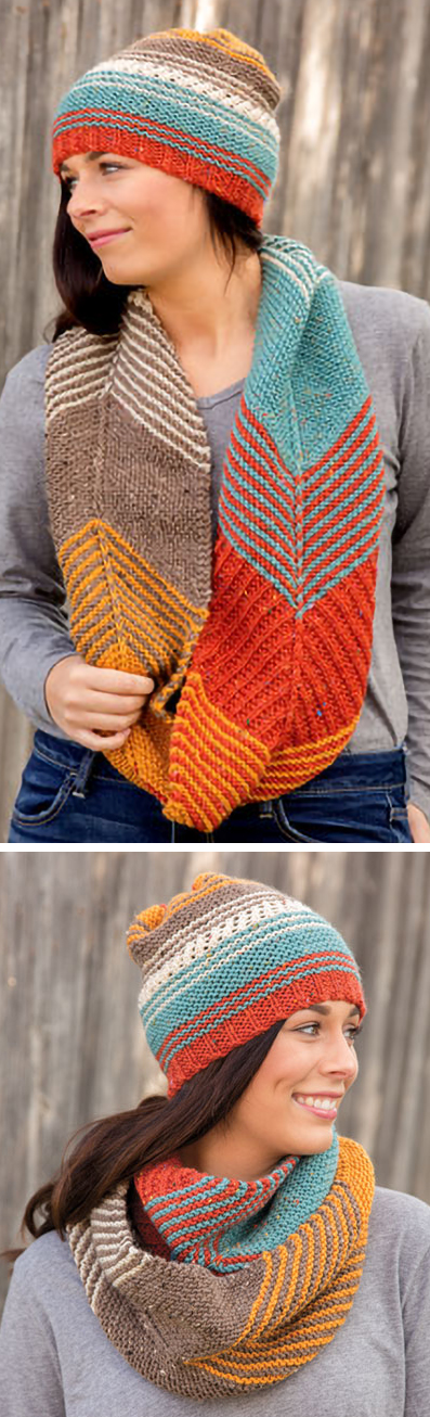 Knitting Pattern for Allegiant Hat and Cowl Set