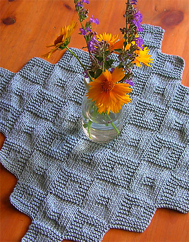 Free Knitting Pattern for Allegoro Table Square