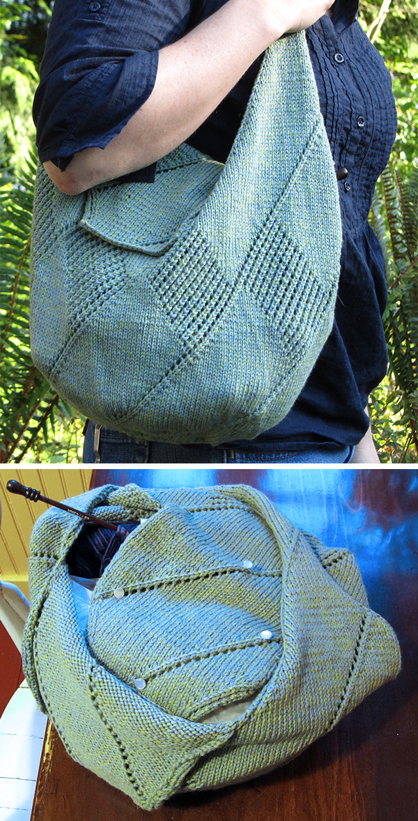 Free Easy Knitting Pattern for Aloe Day Bag