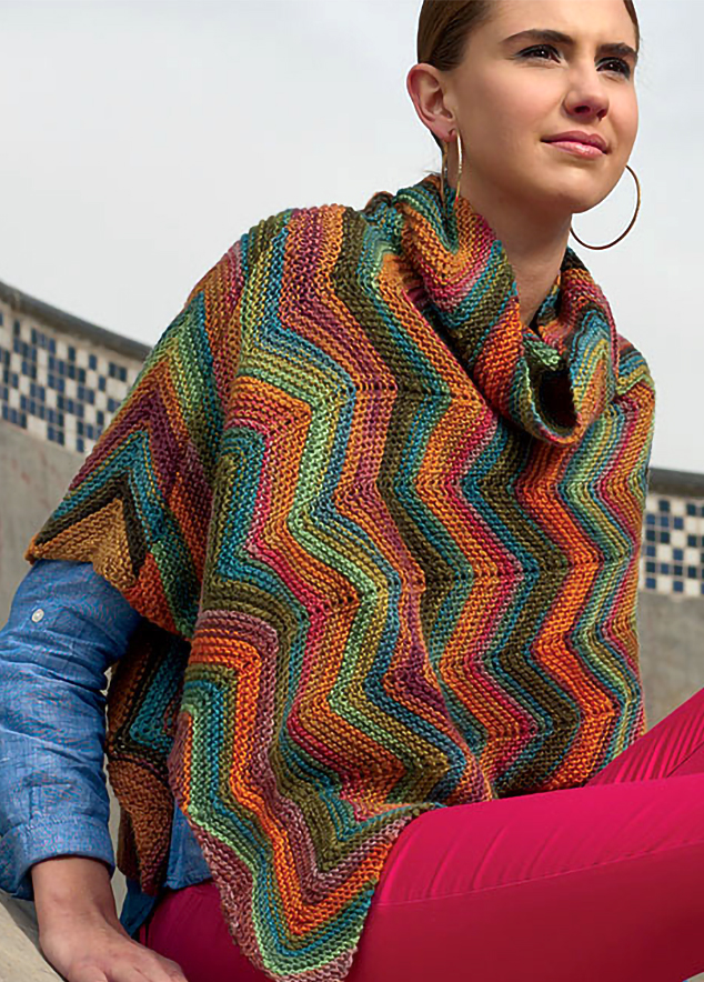 Knitting Pattern for Amalfi Poncho
