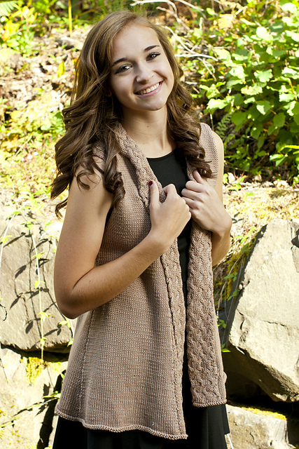 Free knitting pattern for Amalfi Vest and more vest knitting patterns