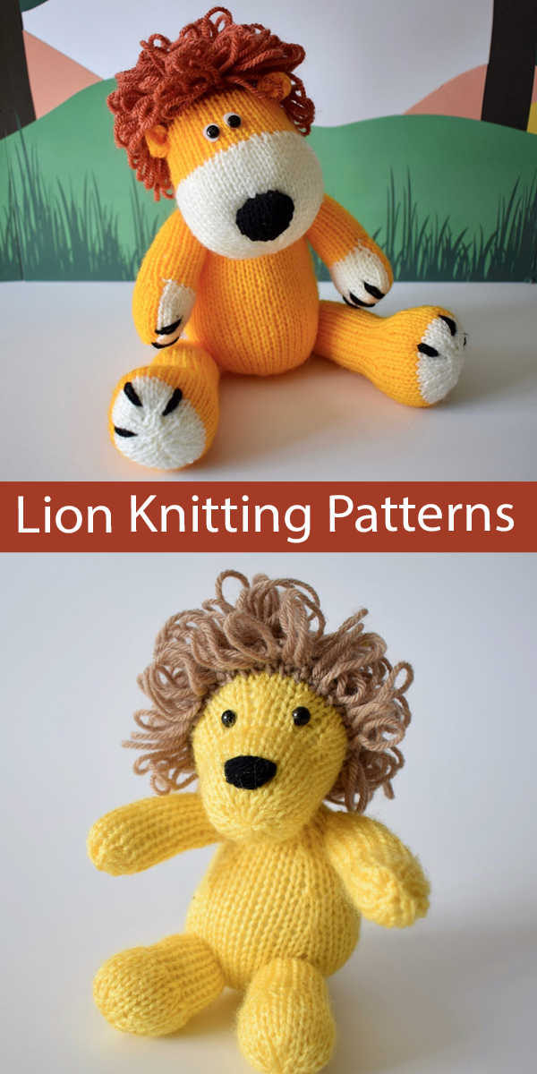 Lion Toy Knitting Patterns