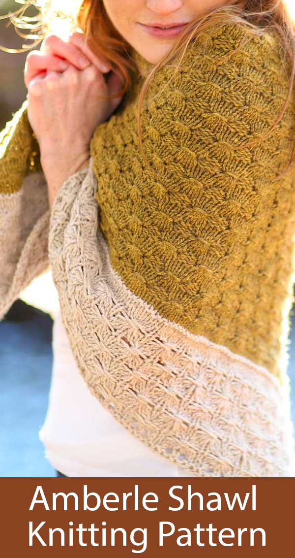 Knitting Pattern for Amberle Shawl