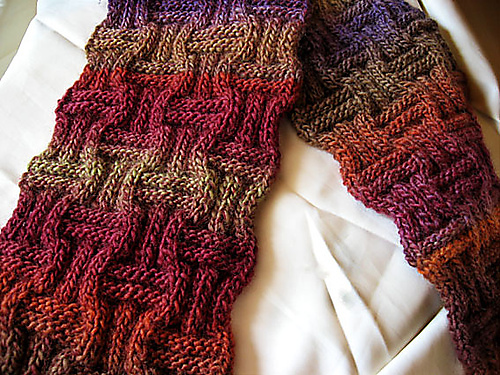 Free knitting pattern for Ameeta Scarf and more cozy scarf knitting patterns
