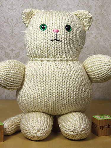 Free knitting pattern for Amigurumi Cat about 11 inches tall and more cat knitting patterns