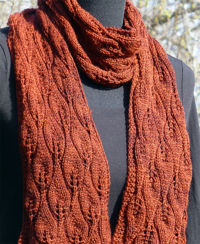 Free Knitting Pattern for Amy Pond Scarf