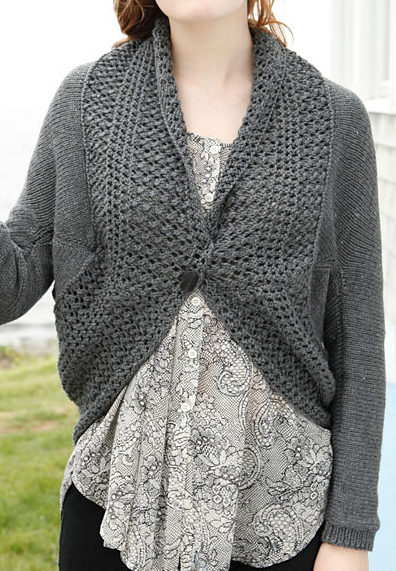 Free Knitting Pattern for Amy Shrug