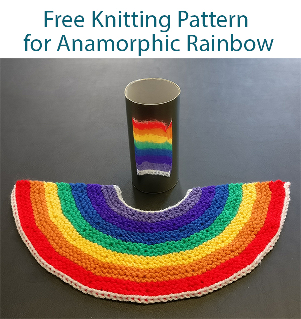 Free Knitting Pattern for Anamorphic Raintangle