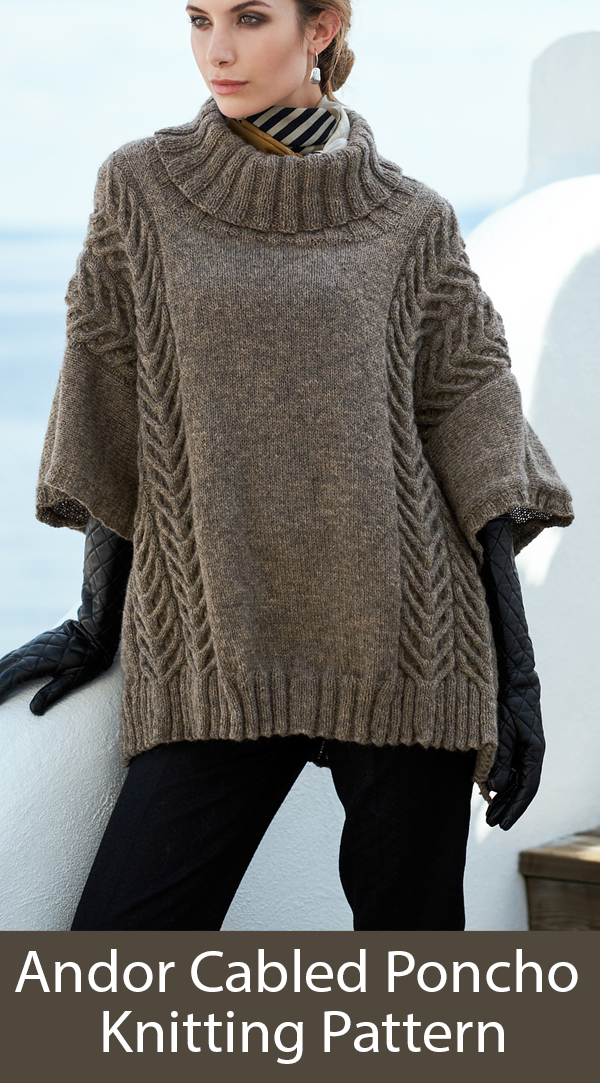 Knitting Pattern for Andor Poncho