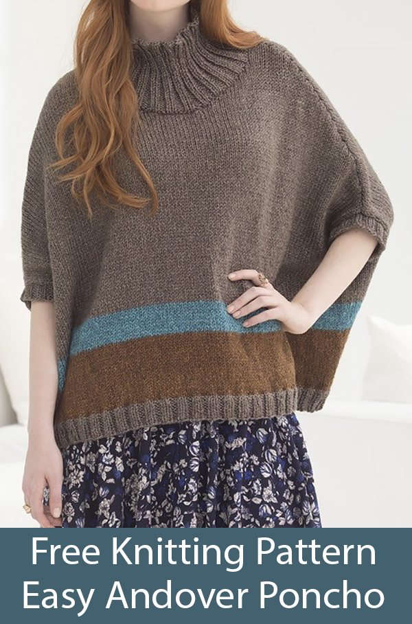 Free Knitting Pattern for Andover Poncho