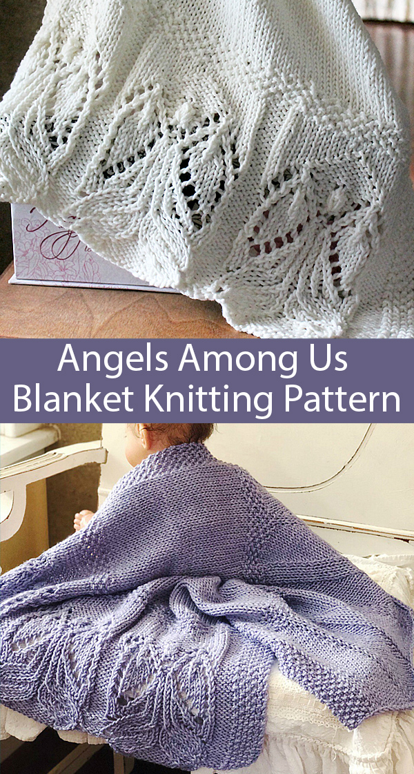 Knitting Pattern for Angels Among Us Blanket