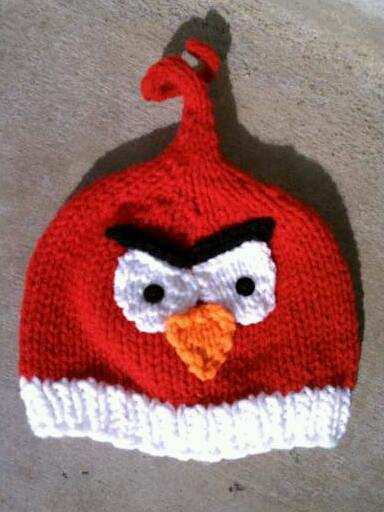 Free knitting pattern for Angry Bird Hat