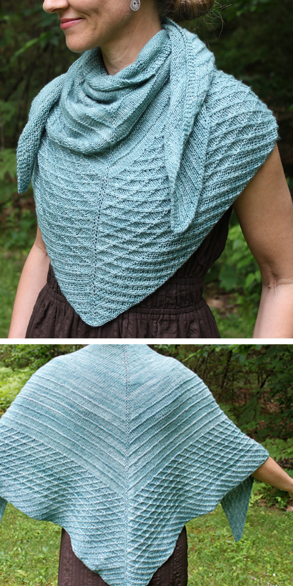Knitting Pattern for Angulate Shawl
