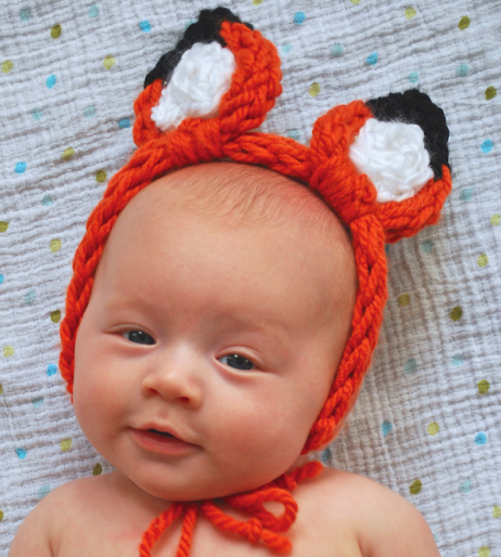 Free Knitting Pattern for 30 Minute Finger Knit Animal Ears
