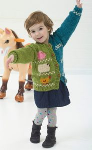 Free knitting pattern for Animal Talk Cardigan for children