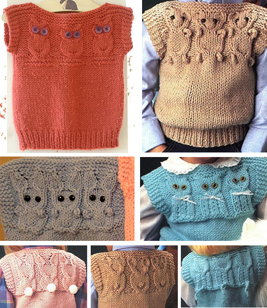 Knitting Patterns for Animal Vests