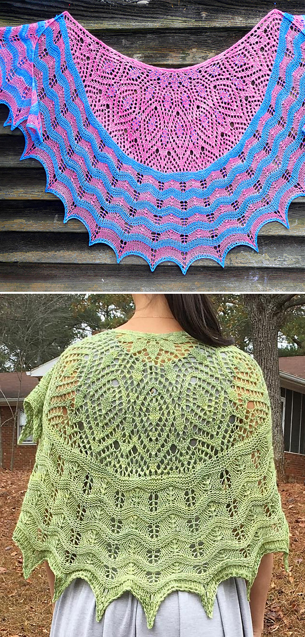 Free Knitting Pattern for Anna's Hope Lace Shawl