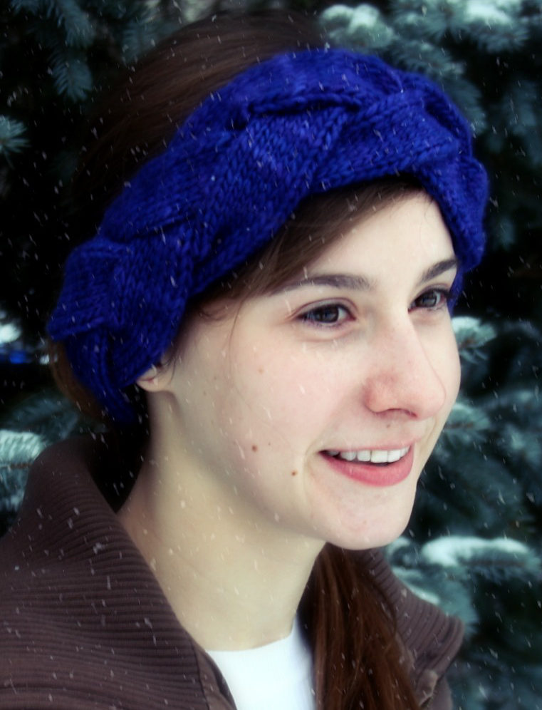 Free Knitting Pattern for Anthro-Style Plaited Head Wrap