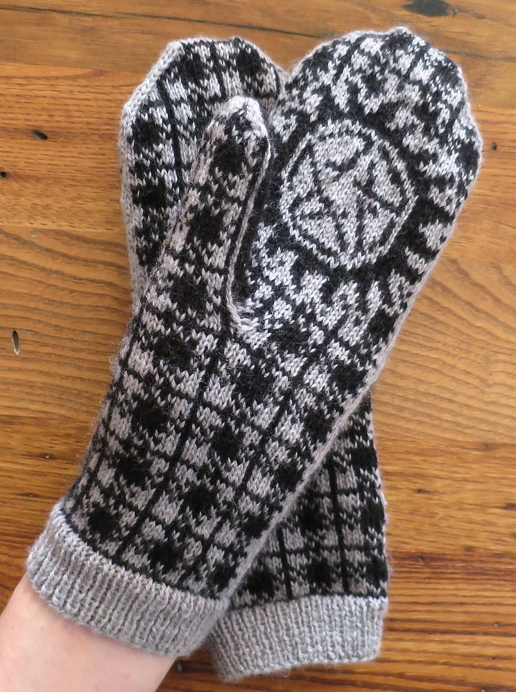 Free Knitting Pattern for Winchester Plaid Anti-Possession Mittens