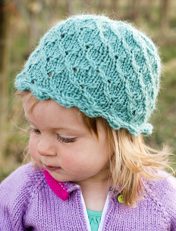Free Knitting Pattern for Antique Pearl Hat for All Sizes