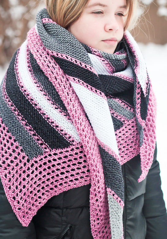 Free Knitting Pattern for Anything Goes Shawl