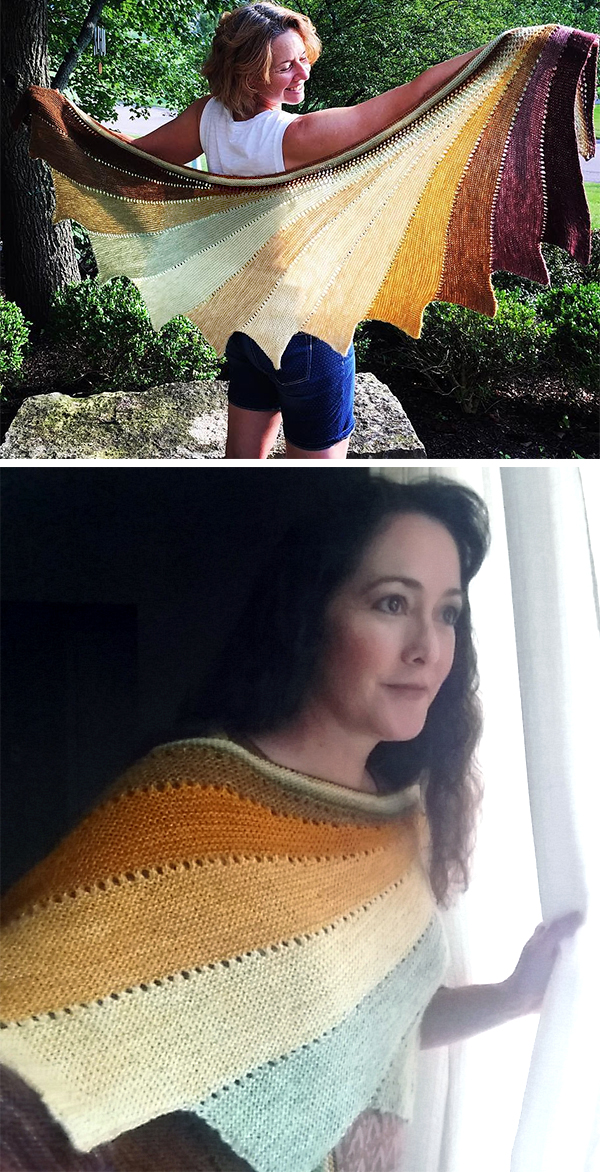 Free knitting pattern for Easy Arabella Shawl