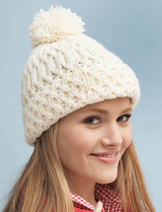Pom Pom or Bobble Hats Knitting Patterns- In the Loop Knitting d818bc899