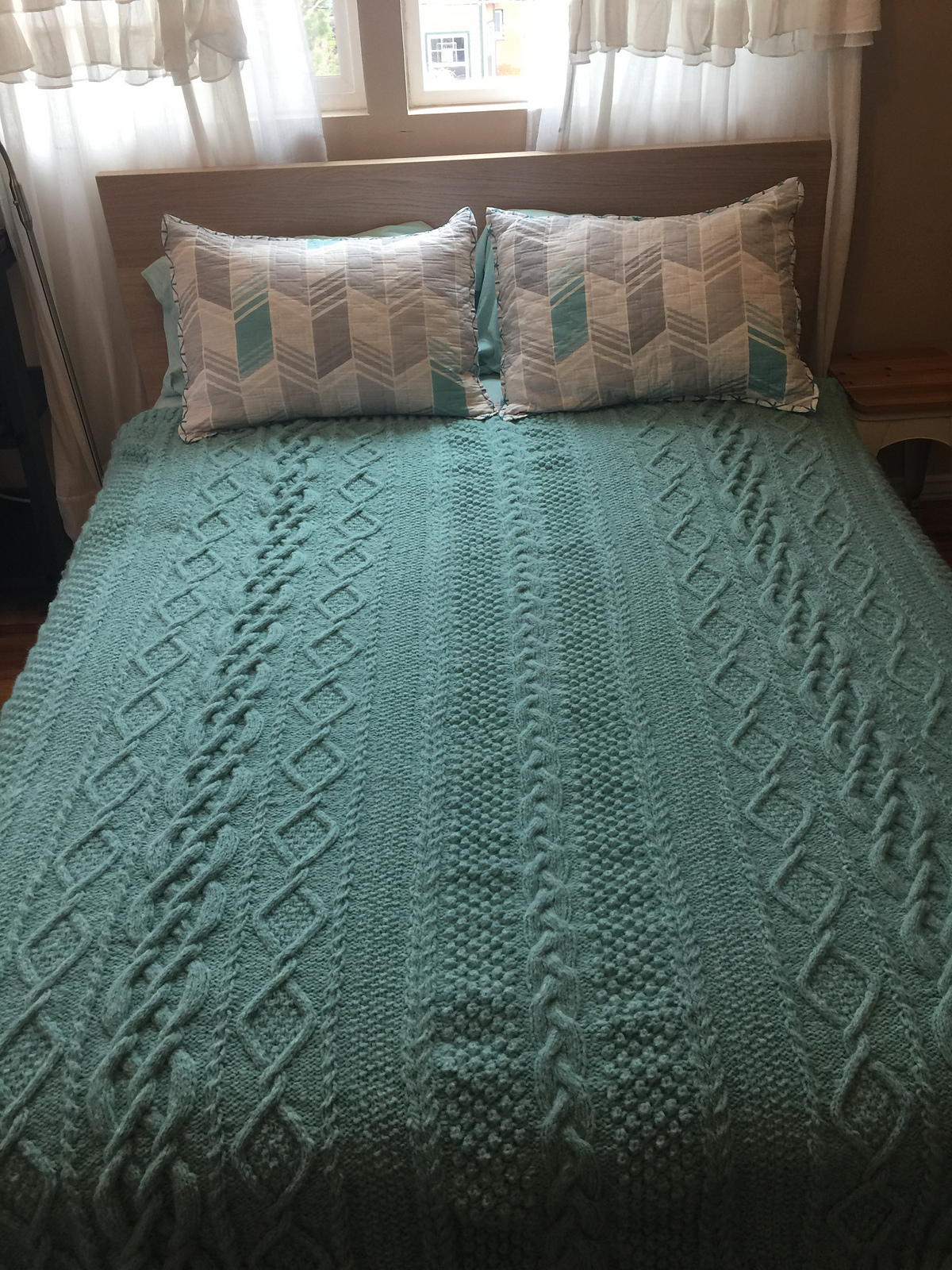Knitting Pattern for Aran Heirloom Blanket