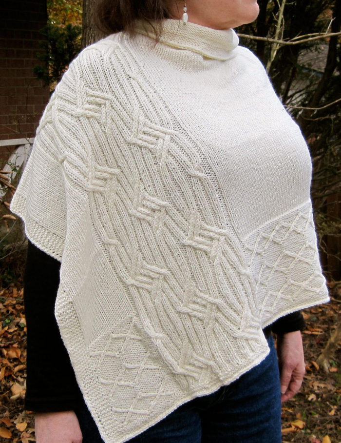 Knitting Pattern for Adare Cabled Poncho