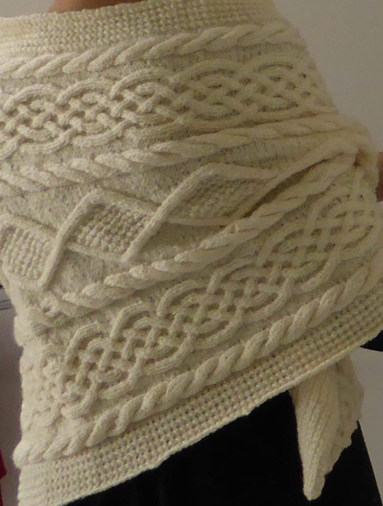 Knitting Pattern for Rectangular Aran Wrap
