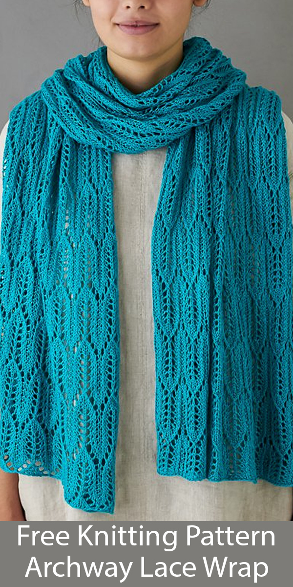 Free Knitting Pattern for Archway Lace Wrap