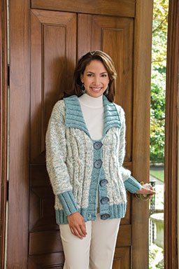Arctic Frost Coat Free Knitting Pattern and more free jacket and coat knitting patterns at http://intheloopknitting.com/jacket-and-coat-knitting-patterns/